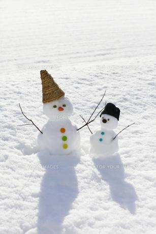雪だるまの写真素材 [FYI00037408]