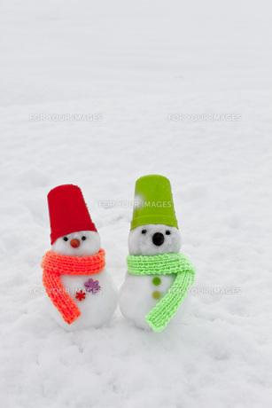 雪だるまの写真素材 [FYI00037424]