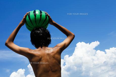 夏の少年の写真素材 [FYI00038772]