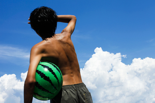 夏の少年の素材 [FYI00038829]