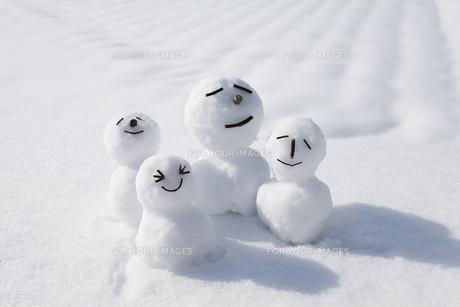 雪だるまの写真素材 [FYI00039274]