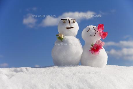 雪だるまの写真素材 [FYI00039289]