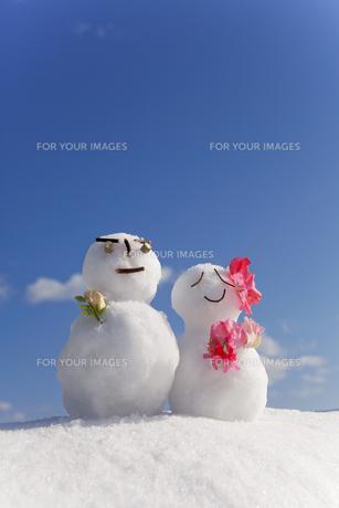 雪だるまの素材 [FYI00039312]