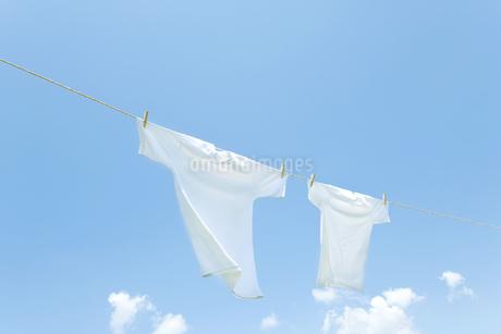 青空と洗濯物の写真素材 [FYI00040527]