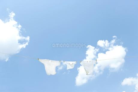 青空と洗濯物の写真素材 [FYI00040530]