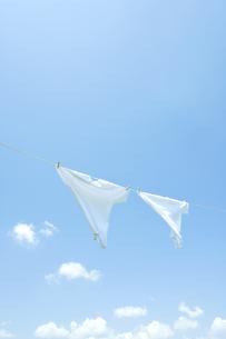 青空と洗濯物の写真素材 [FYI00040535]