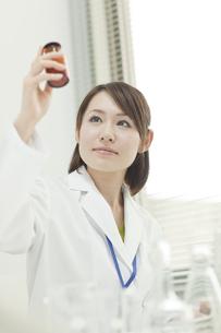 薬品を持つ女性研究員の写真素材 [FYI00041237]