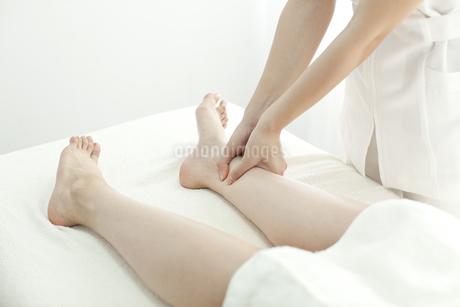 足をマッサージするエステティシャンの写真素材 [FYI00041438]