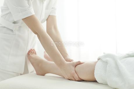 足をマッサージするエステティシャンの写真素材 [FYI00041442]