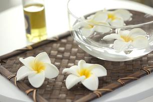 プルメリアの花とオイルの写真素材 [FYI00041561]