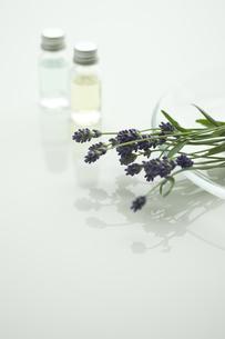 ラベンダーの花とアロマオイルの写真素材 [FYI00041632]