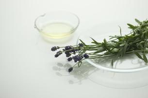 ラベンダーの花とアロマオイルの写真素材 [FYI00041638]