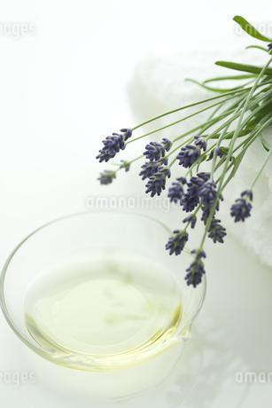 ラベンダーの花とアロマオイルの写真素材 [FYI00041649]