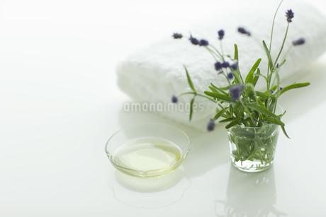 ラベンダーの花とアロマオイルの写真素材 [FYI00041655]