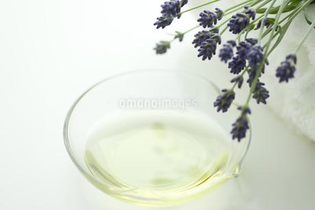 ラベンダーの花とアロマオイルの写真素材 [FYI00041656]