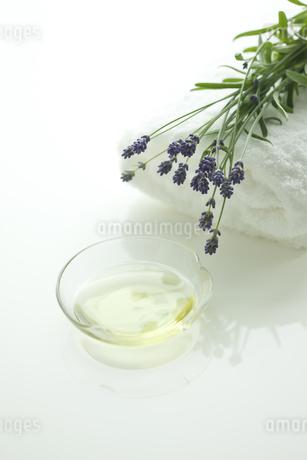 ラベンダーの花とアロマオイルの写真素材 [FYI00041661]