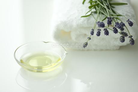 ラベンダーの花とアロマオイルの写真素材 [FYI00041671]