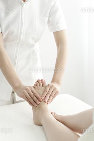 足をマッサージするエステティシャンの写真素材 [FYI00041698]
