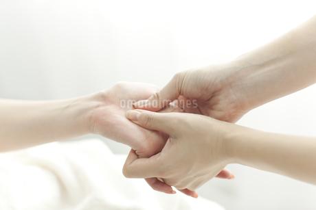 手をマッサージするエステティシャンの写真素材 [FYI00041719]