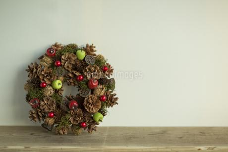 クリスマスリースの素材 [FYI00041871]