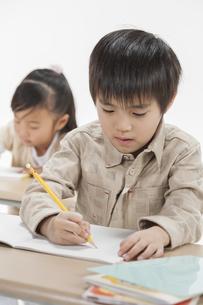 勉強をする子供たちの写真素材 [FYI00041927]