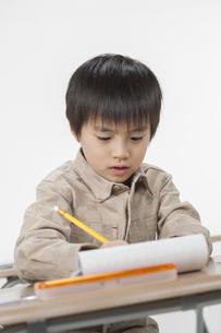 勉強をする少年の写真素材 [FYI00041935]