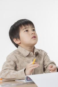 勉強をする少年の写真素材 [FYI00041936]