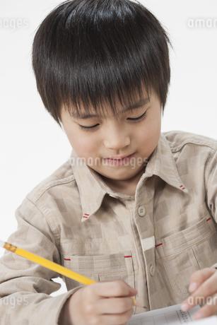 勉強をする少年の写真素材 [FYI00041939]