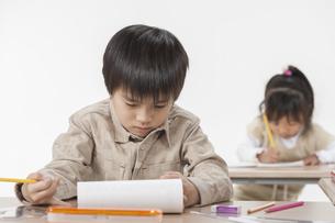 勉強をする子供たちの写真素材 [FYI00041945]