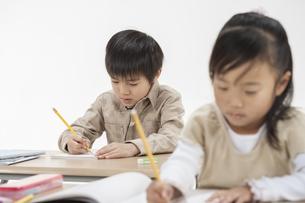 勉強をする子供たちの写真素材 [FYI00041947]
