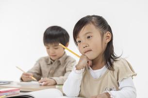勉強をする子供たちの写真素材 [FYI00041948]