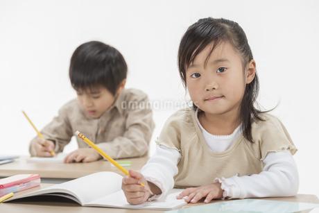 勉強をする子供たちの写真素材 [FYI00041949]