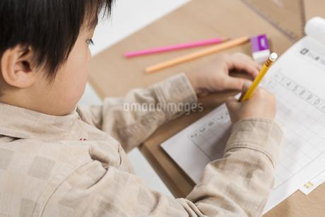 勉強をする少年の写真素材 [FYI00041951]