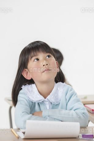 勉強をする少女の写真素材 [FYI00041956]