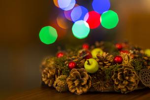 クリスマスリースの写真素材 [FYI00042794]