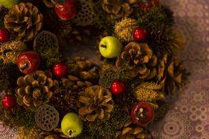 クリスマスリースの写真素材 [FYI00042801]