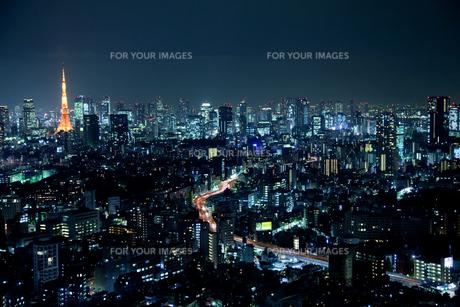 東京夜景の写真素材 [FYI00043266]