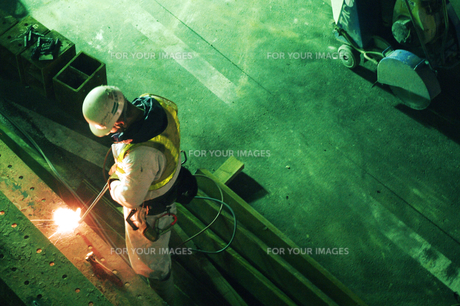 工事現場の男の写真素材 [FYI00043374]