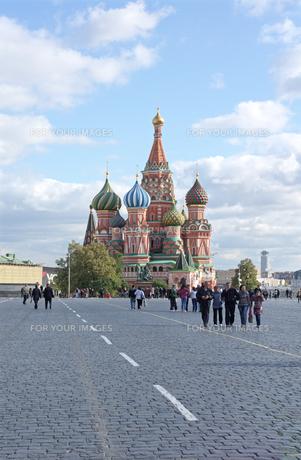 モスクワ 赤の広場 聖ワシリイ大聖堂の写真素材 [FYI00043561]