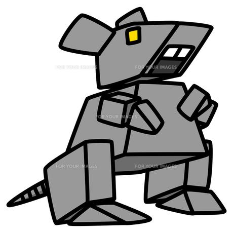 ねずみのキャラクター 04 ロボットのねずみの写真素材 [FYI00043582]