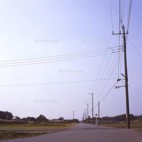 無人の農道②の素材 [FYI00043729]