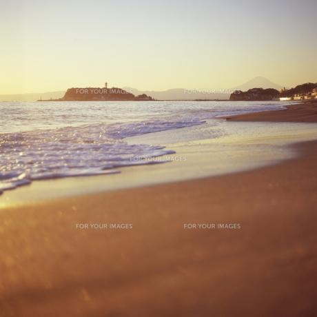 江の島の夕景の素材 [FYI00043818]