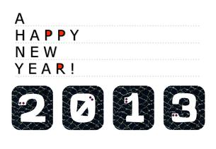 2013年 巳年 ヘビ 蛇 年賀状の写真素材 [FYI00044083]