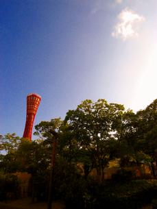 神戸 観光 風景 ポートタワー メリケン波止場の写真素材 [FYI00044122]