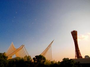 神戸 観光 風景 ポートタワー メリケン波止場の写真素材 [FYI00044146]