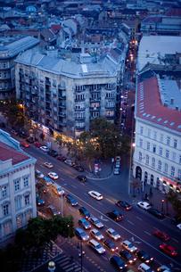 ペストの夕暮れの街並の写真素材 [FYI00044251]