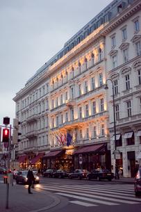 夕暮れのウィーン市街の写真素材 [FYI00044254]