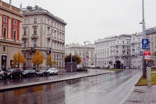 雨の日のウィーン市街の写真素材 [FYI00044255]