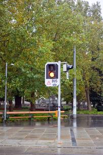 ウィーンの黄色信号の写真素材 [FYI00044259]