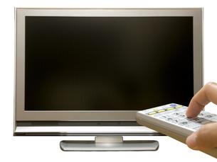 地デジテレビとリモコンの写真素材 [FYI00044486]